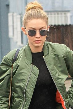 How to get Gigi Hadid's top knot, plus more celebrity beauty tutorials and tips here:
