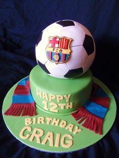 Soccer cakes Barcelona | Barcelona FC cake — Soccer / Futball