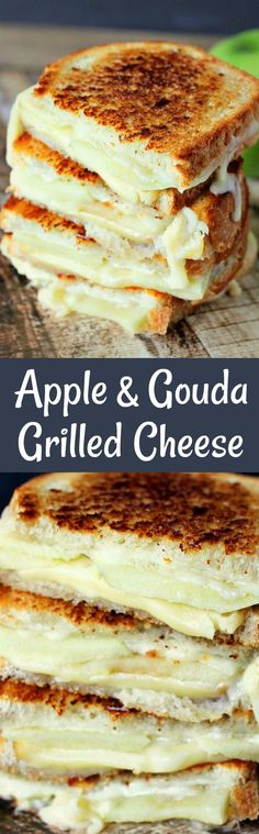Apple Grilled Cheese is perfect for fall! Smokey gouda cheese melted between tar. Apple Grilled Cheese is perfect for fall! Smokey gouda cheese melted between tart granny smith apples is savory and delicious! Apple Recipes, Fall Recipes, Great Recipes, Favorite Recipes, Dinner Recipes, Drink Recipes, Recipe Ideas, Grilled Sandwich, Soup And Sandwich