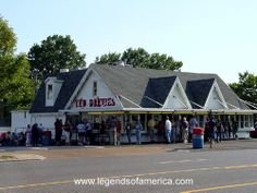Ted Drewes in St. Louis, MO. Technically Not A Restaurant, But The BEST Frozen Custard Anywhere!!