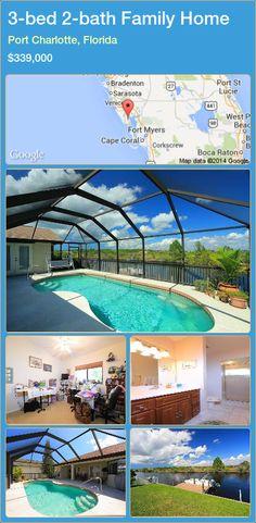 3-bed 2-bath Family Home in Port Charlotte, Florida ►$339,000 #PropertyForSaleFlorida http://florida-magic.com/properties/62837-family-home-for-sale-in-port-charlotte-florida-with-3-bedroom-2-bathroom