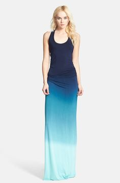 'Hamptons' Racerback Jersey Maxi Dress