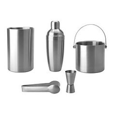 OLEBY 5-piece bar set, stainless steel