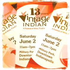 Repin this & get entered to win 2 tickets to the Vintage Indiana Wine Festival this weekend! Who doesn't love a good glass of vino?