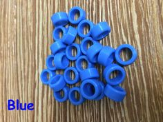 25pcs/Bag Large Type Dental Silicone Instrument Color Code Rings Blue For Sale #UnbrandedGeneric