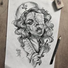та quando o piercing inflama - Piercing Tattoo Sketches, Drawing Sketches, Cartoon Drawings, Art Drawings, Tattoo Video, Desenho Tattoo, Chicano Art, Drawing Faces, Body Art Tattoos