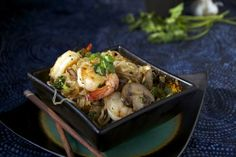 Low-carb Shrimp and Angel Hair Pasta