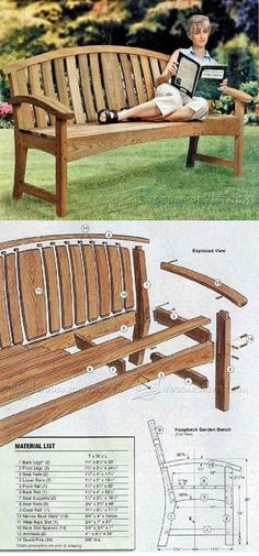 Garden Bench DIY - Outdoor Furniture Plans and Projects | WoodArchivist.com