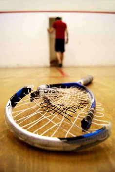 I play squash to help with fitness - but I can't stay I'm the best at it. Squash Game, Play Squash, Racquet Sports, Tennis Racket, Squash Rackets, Gopro, Skeet Shooting, Badminton, Sport Sport