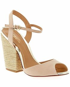 "Some of you have to get in on this: SCHUTZ ""Balqees"" Leather Sandal"