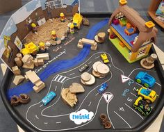 Explore the construction industry with this building site tuff tray activity using Twinkl resources. Eyfs Activities, Nursery Activities, Preschool Activities, Reggio, Tuff Tray Ideas Toddlers, Construction Eyfs, Construction Theme Preschool, Positive Quotes For Life Encouragement, People Who Help Us