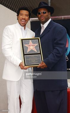 Lionel Richie and Jimmie 'Jam' Harris. during Lionel Richie Honored with a Star on the Hollywood Walk of Fame for His Achievements in Music at Hollywood Boulevard in Hollywood, California, United States. Hollywood Boulevard, Hollywood Walk Of Fame, In Hollywood, Hollywood California, Funk Bands, Jet Magazine, R&b Artists, Lionel Richie, Famous Singers