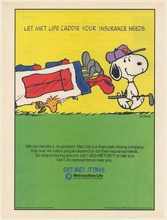 Metlife Quote Metropolitan Life Insurance 2007 Magazine Print Ad Snoopy Art