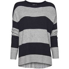 MANGO Oversized striped jumper ($30) ❤ liked on Polyvore