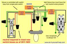 wiring diagram receptacle to switch to light fixture for. Black Bedroom Furniture Sets. Home Design Ideas