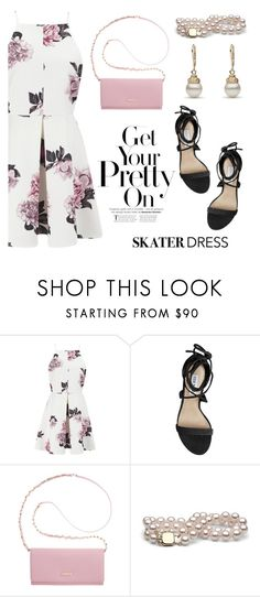 """Summer Style: Cutout Skater Dress"" by pearlparadise ❤ liked on Polyvore featuring Cameo, Steve Madden and DKNY"