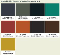 Original Eichler paint colors for your ranch or contemporary home - Retro Renovation