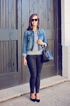 jillgg's good life (for less) | a style blog: my everyday style: waxed denim this fall!