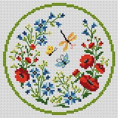 butterflies & flowers  FREE CROSS-STITCH PATTERNS at this site: http://cross-stitchers-club.com/?code_avantage=uucqid