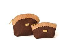 Cork zip coin purse and key holder - WOOD Natural P
