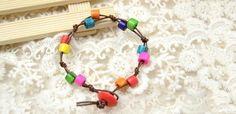 Tutorial on Making Rainbow Wooden Bead Bracelet with Simple Knots | eBay