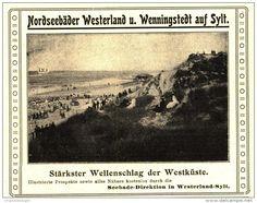 Original-Werbung/Inserat/ Anzeige 1905 - SYLT / NORDSEEBÄDER WESTERLAND UND WENNINGSTEDT - ca. 110 X 90 mm
