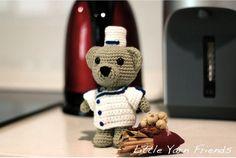 (4) Name: 'Crocheting : Lil' Chef Teddy