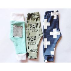 Little nugget republic baby leggings. Making the itty bitty sizes never gets old. And I don't think it ever will