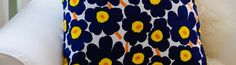 "Marimekko Pillow Cover Handmade 12""x24"" (30x60cm) Lumbar pillow by PantsandPillows"