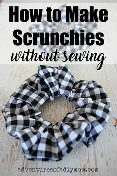 Easy DIY Scrunchies without a sewing machine. No access to a machine? Don't know how to sew? You can still make scrunchies with this no-sew scrunchie tutorial! Scrunchie How to Make Scrunchies without Sewing Diy Hair Scrunchies, How To Make Scrunchies, Fun Diy Crafts, Crafts For Teens, Teen Girl Crafts, Teen Diy, Easy Crafts To Make, Diy Gifts For Kids, Upcycled Crafts