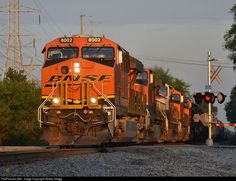 RailPictures.Net Photo: BNSF 8002 BNSF Railway GE ES44DC at Joliet, Illinois by Robby Gragg