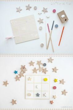 DIY Tic Tac Toe star Game by La maison de Loulou