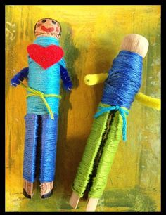 Worry Dolls - Muñeca Quitapenas are dolls that remove worries.Making Cinco de Mayo Crafts Art Therapy Projects, Art Therapy Activities, Play Therapy, Group Activities, Therapy Ideas, Leadership Activities, Senior Activities, Craft Activities, Dreams