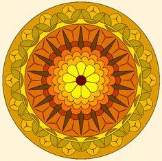 "Mandala, ""September Circle."""