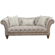 Button-tufted and plush, the Versailles Sofa redefines chic. A subtly curved back, flared arms, and refined nailhead trim encapsulate vintage-inspired ele...