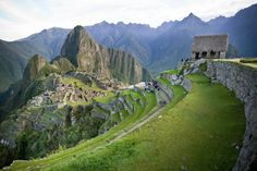 Machu Picchu and the hut of the Caretaker of the Funerary Rock.