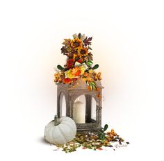 """Autumn Lantern 😀"" by ragnh-mjos ❤ liked on Polyvore featuring art"
