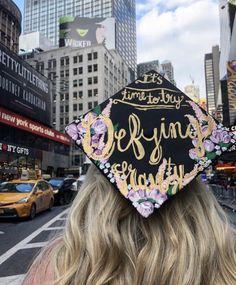 """Defying Gravity"" Wicked Broadway musical graduation cap"