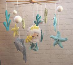 Poseidon Cot Crib Mobile Handmade Under sea Chibi Mermaid Doll birthday gift Toys for baby mobile Baby shower gift nursery decor Decorations Crochet Mermaid, Felt Bows, Baby Crib Mobile, Mermaid Dolls, Etsy Shipping, Fabric Samples, 1 Piece, Baby Toys, Nursery Decor