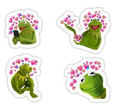 Kermit stickers featuring millions of original designs created by independent artists. 4 sizes available. Stickers Cool, Red Bubble Stickers, Meme Stickers, Tumblr Stickers, Phone Stickers, Printable Stickers, Spongebob Birthday Party, Frog Drawing, Wallpaper Stickers