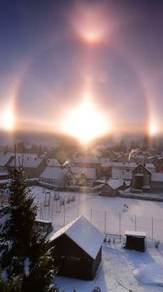 Frozen Halo -- AUSTRIA -- SEMMERING -- Optical phenomeno in a very cold Morning, in the valley of Semmering , Austria due the Icy atmosphere and reflexions of the first sunny rays #by Adrian Nicolae Per