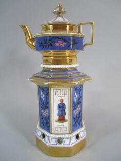 A77-14 Antique 1860s Porcelain Teapot : Lot 296