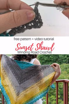 Crochet this triangle shawl with the free crochet pattern and video tutorial by Winding Road Crochet. # one skein crochet patterns Desert Sunset Shawl Free Crochet Pattern with Video Tutorial by Winding Road Crochet One Skein Crochet, Crochet Pattern Free, Poncho Au Crochet, Crochet Motifs, Crochet Shawls And Wraps, Crochet Scarves, Knitting Patterns, Scarves & Shawls, Free Knitting