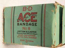 Vintage 1940 Ace Bandage / Vintage Becton Dickinson & company Ace Bandage No. 8