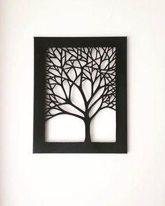 Artículos similares a 11 x 14 Tree Silhouette Cut Canvas - Set of 3 en Etsy Metal Tree Wall Art, Metal Artwork, Foam Board Crafts, Jaali Design, Paper Cutting Patterns, Calligraphy Print, Cut Canvas, Tree Silhouette, Wall Art Designs