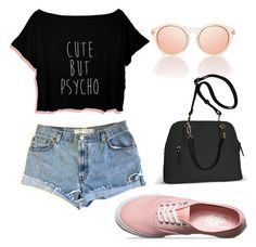 """Untitled #45"" by kristyna-r on Polyvore featuring Levi's, Vans and Avenue"