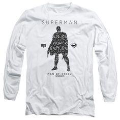 Superman: Paisley Sihouette Long Sleeve T-Shirt