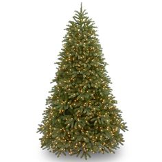 National Tree Company 6.5-ft. Clear Pre-Lit Jersey Fraser Fir Medium Artificial Christmas Tree, Green