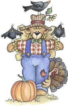Laurie Furnell - Angel Bear Autum - (792x1228 px) printable