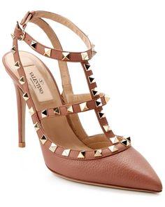 Valentino Rockstud Leather Slingback Pump Pink//